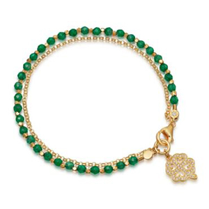 Green and gold clover bracelet from Nordstrom photo