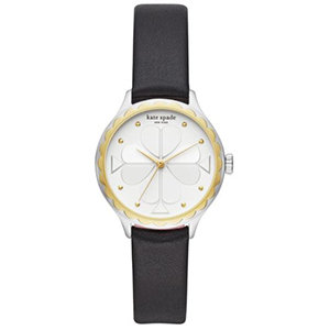Gold and silver Kate Spade watch with a black band from Nordstrom photo
