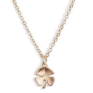 Gold shamrock charm necklace from Nordstrom photo
