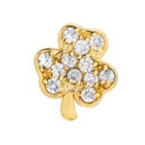 Gold and diamond shamrock stud earring from Nordstrom photo