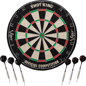 Dartboard with 6 darts included from Amazon photo