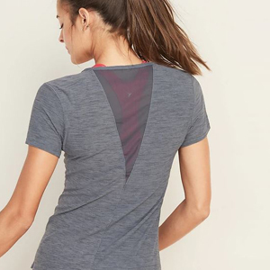 Performance tee with mesh paneling on the back from Old Navy photo