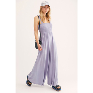 Lilac smocked jumpsuit from Free People photo