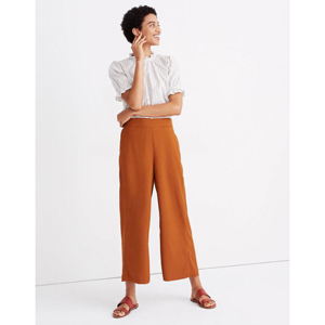 Golden Pecan pull-on crop pants from Madewell photo