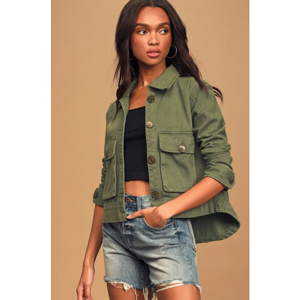 Love of a lifetime olive green utility jacket from Lulus photo