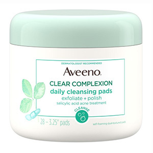 Jar of Aveeno cleansing pads from Walmart photo