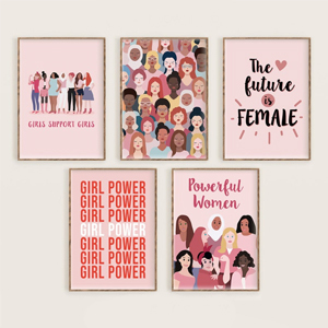 Set of five Feminist Printable Posters from Etsy photo