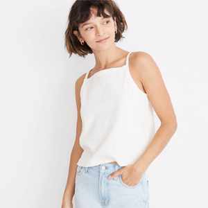 Bright ivory tank top from Madewell photo