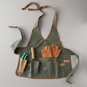 Canvas garden apron with multiple pockets from Terrain photo
