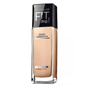 Tall, thin bottle of Maybelline Fit Me Dewy + Smooth Foundation from Target photo