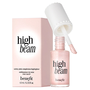 Pink bottle and box of Benefit High Beam Liquid Highlighter photo