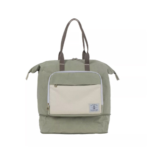 Olive colored baby bag from Target. photo