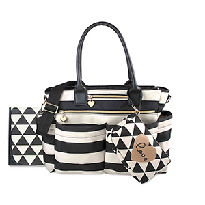 Black and white striped baby bag from BuyBuyBaby photo