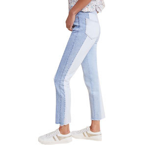 High-waist colorblocked jeans from Anthropologie photo