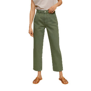 Green jeans from Mango photo