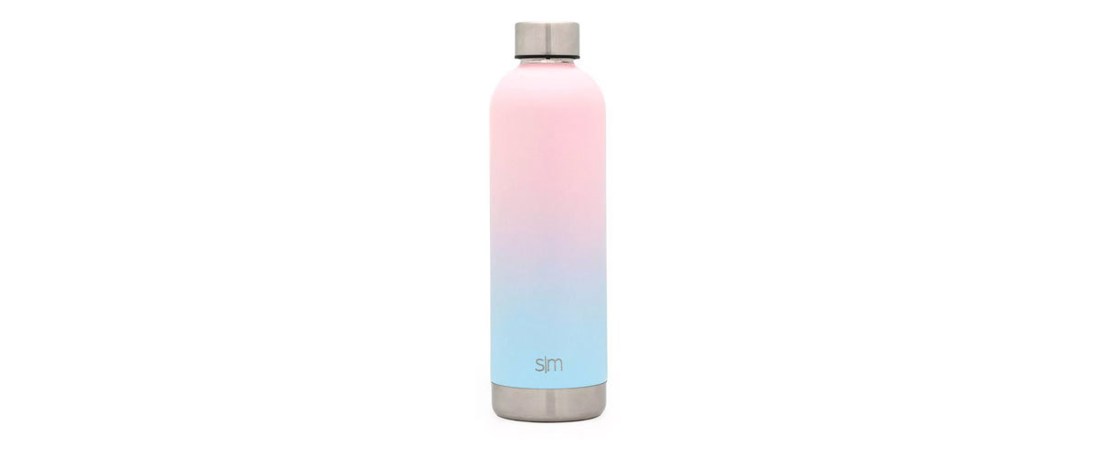 Simple Modern Stainless Steel Bolt Water Bottle in pink and blue from Target photo