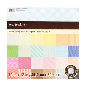 Recollections multi-patterned paper pad from Michaels photo