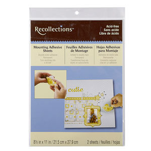 Recollections mounting adhesive sheets from Michaels photo