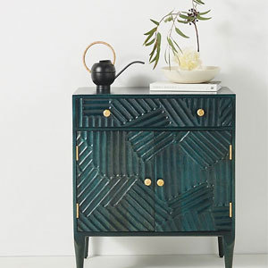 Green cabinet from Anthropologie photo