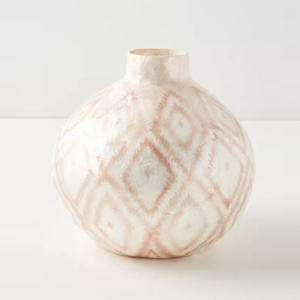 White vase with geometric print from Anthropologie photo