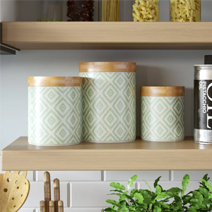 Set of three food canisters from Wayfair. photo