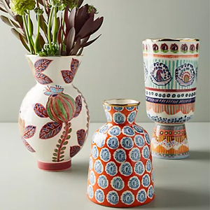 Three painted vases from Anthropologie photo