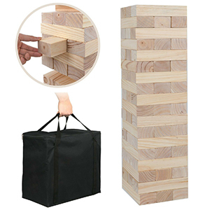 Large outdoor block balancing game from eBay photo