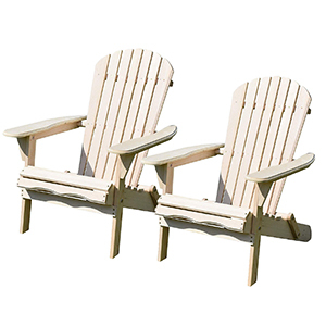 Two white wooden Adirondack chairs from eBay photo