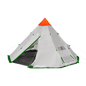 Gray camping tent from eBay photo