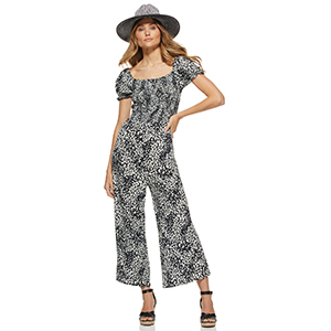 A woman wears a jumpsuit from Walmart photo