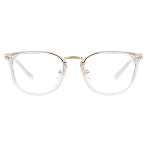 Clear square-framed glasses from Zenni Optical photo