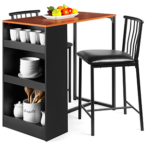 Dark brown bistro table set with two chairs from Walmart photo