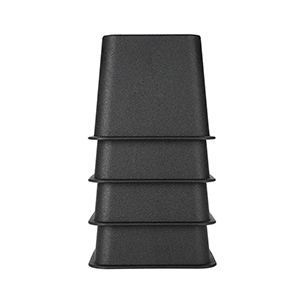 Pack of four black bed risers from Walmart photo