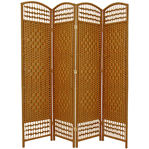 Brown four-panel room divider from Walmart photo