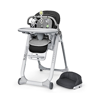 Gray and black Chicco high chair from Buy Buy Baby photo