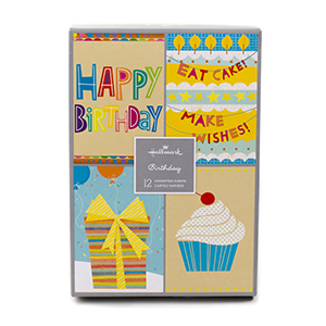 Birthday present, cupcake, and well wishes card set from walmart photo