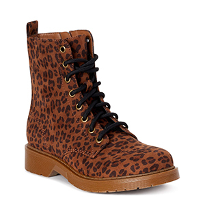 Leopard print lace-up boots from Walmart photo