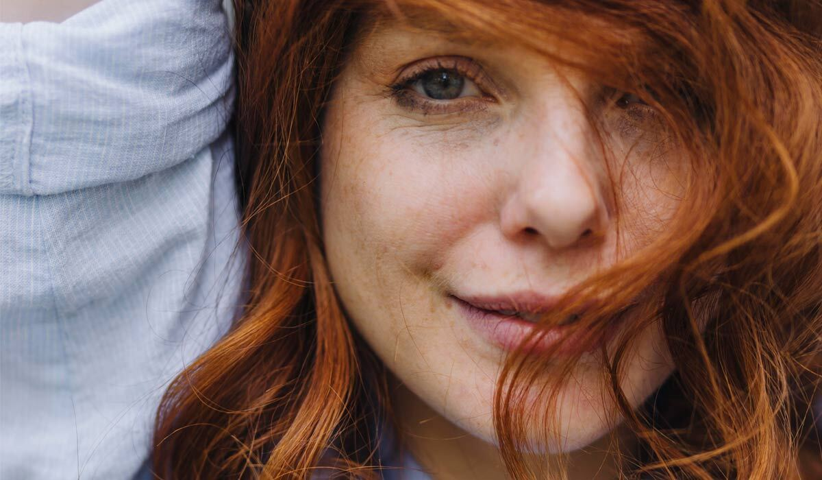 A woman with red hair photo