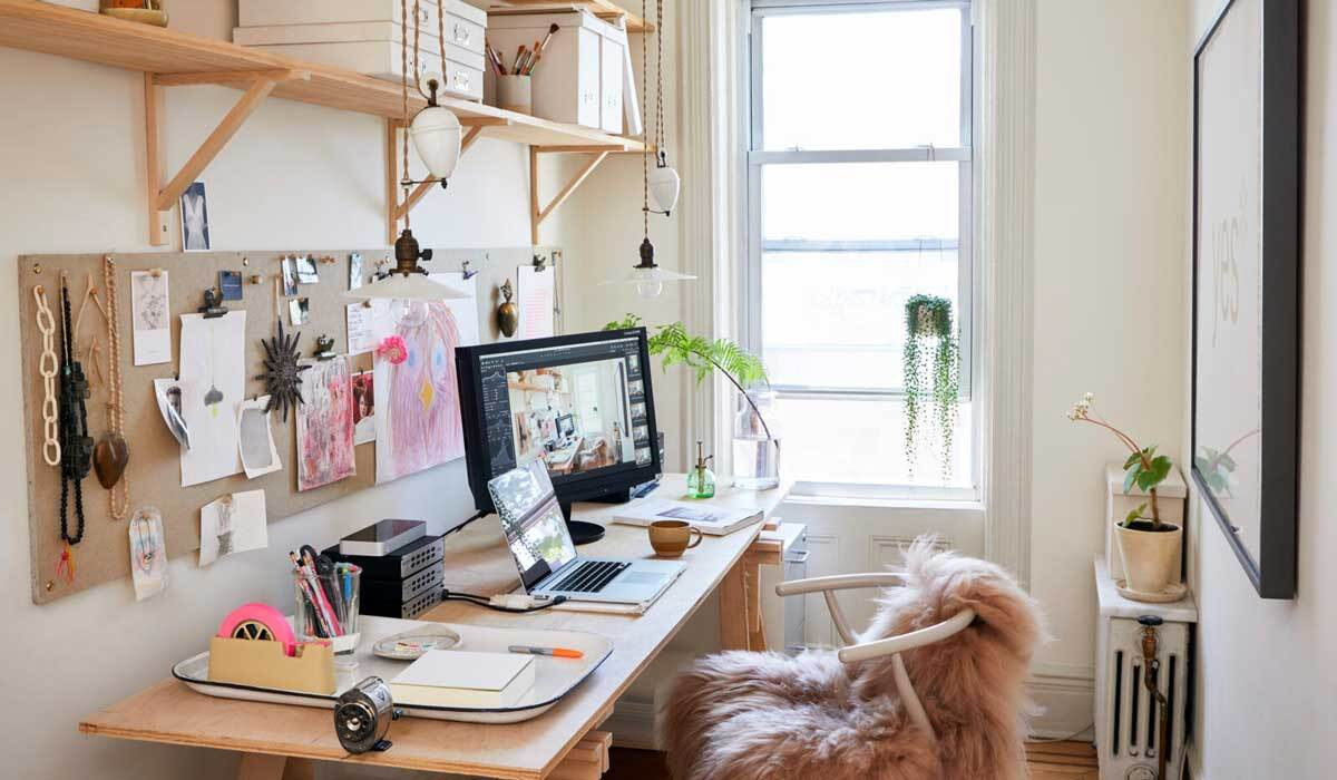 Home office in a New York apartment photo