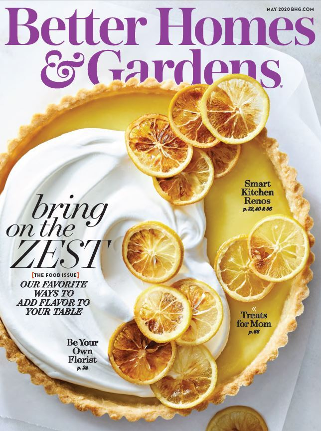 Cover of the May 2020 issue of Better Homes & Gardens magazine photo