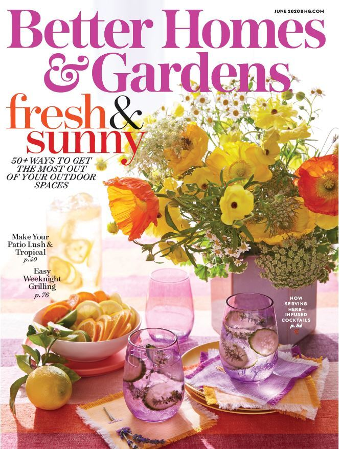 Cover of the June 2020 issue of Better Homes & Gardens magazine photo