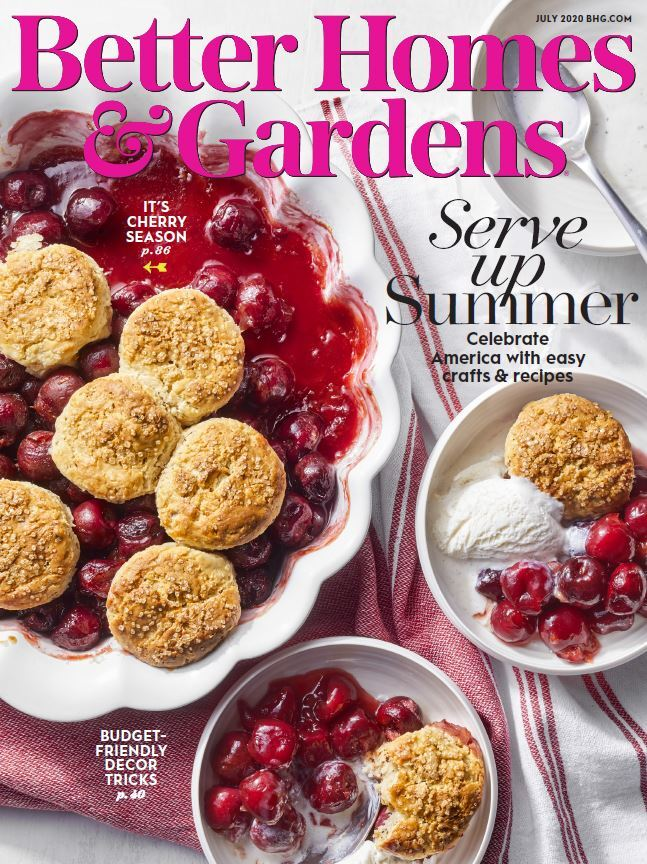 Cover of the July 2020 issue of Better Homes & Gardens magazine photo