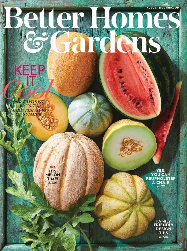 Cover of the August 2020 issue of Better Homes & Gardens magazine photo