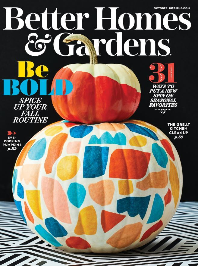 Cover of the October 2020 issue of Better Homes & Gardens magazine photo