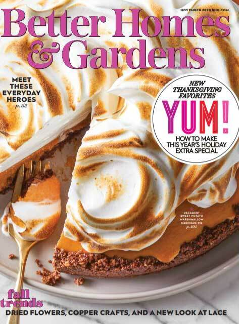Cover of the November 2020 issue of Better Homes & Gardens magazine photo