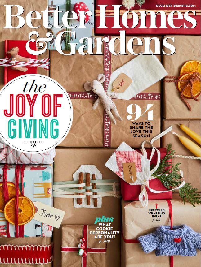 Cover of the December 2020 issue of Better Homes & Gardens magazine photo