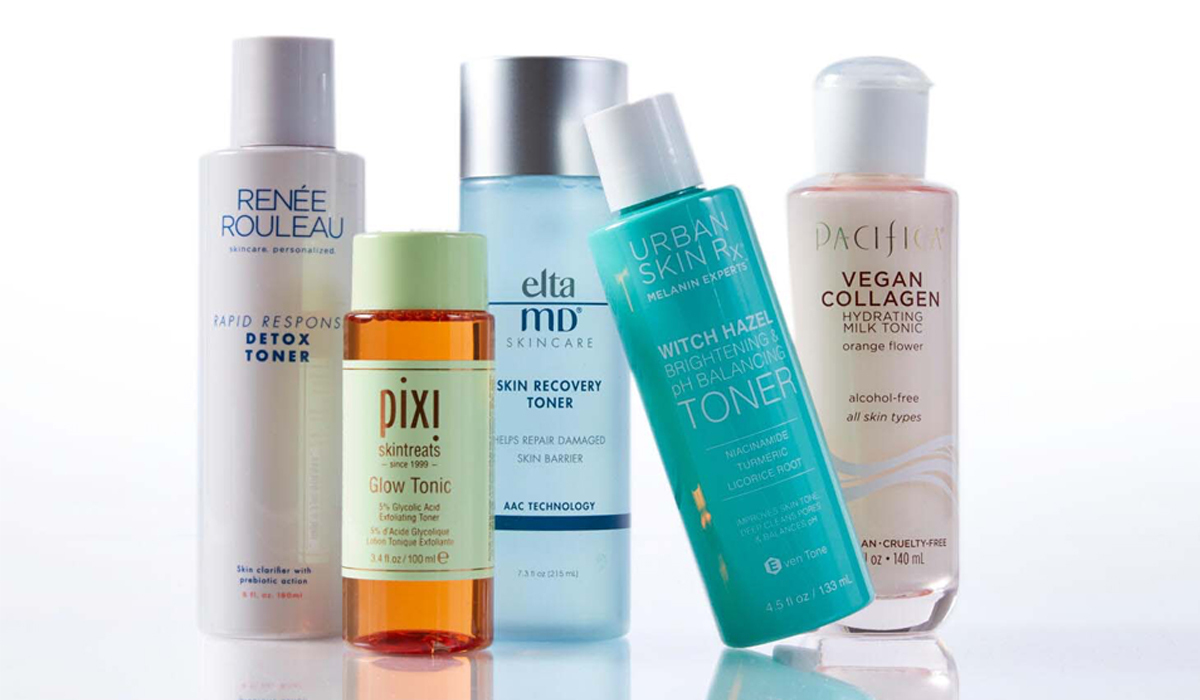 various facial toners by Renee Rouleau, Piki, Elta MD, Urban Skin RX and Pacifica photo