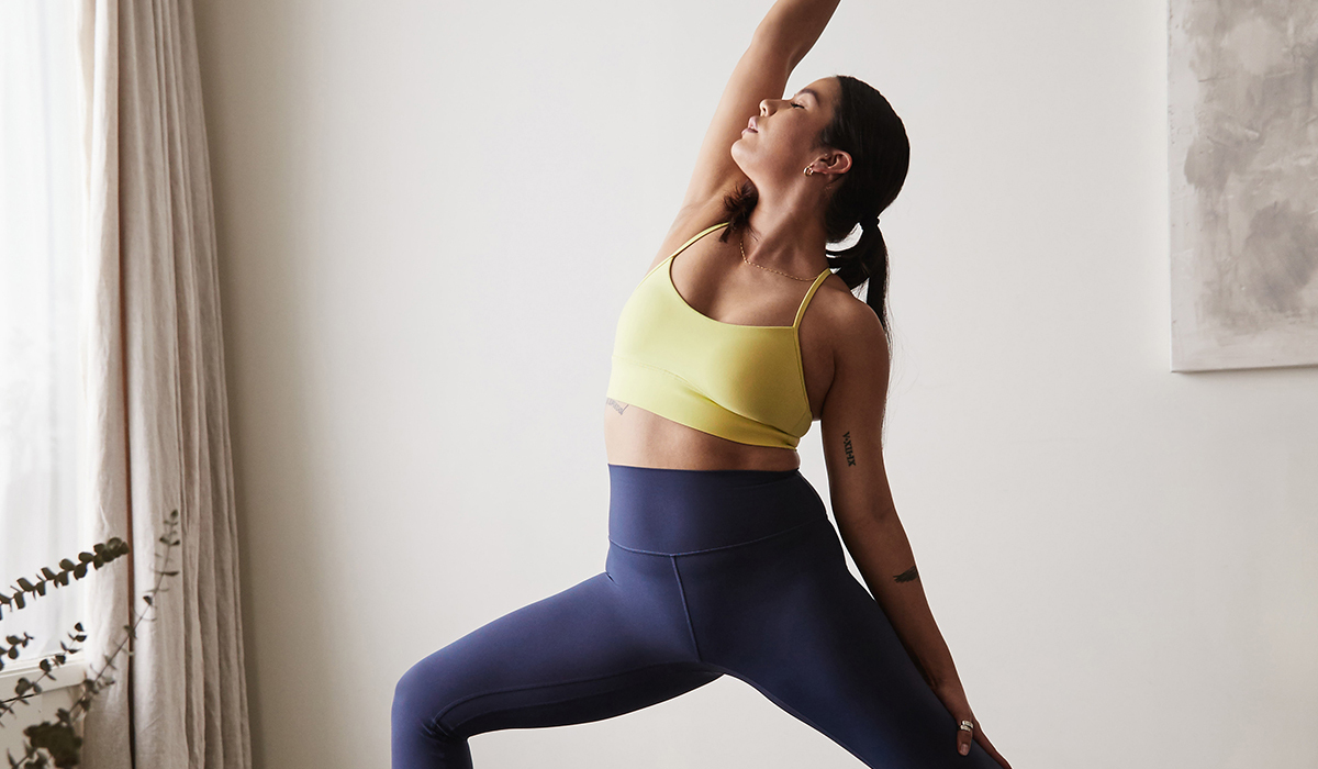 Women stretching in lululemon outfit