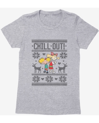 Hey Arnold! Chill Out Womens T-Shirt