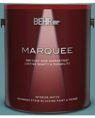 BEHR MARQUEE 1 gal. #510F-5 Bayside Matte Interior Paint and Primer in One